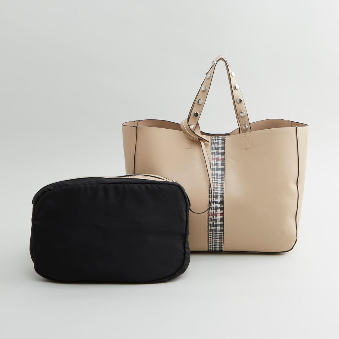 حقيبة يد مزينة بحمّالة كتف قابلة للفصل
