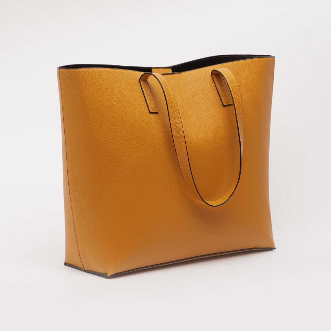 Textured Tote Bag with Twin Handle and Magnetic Snap Closure