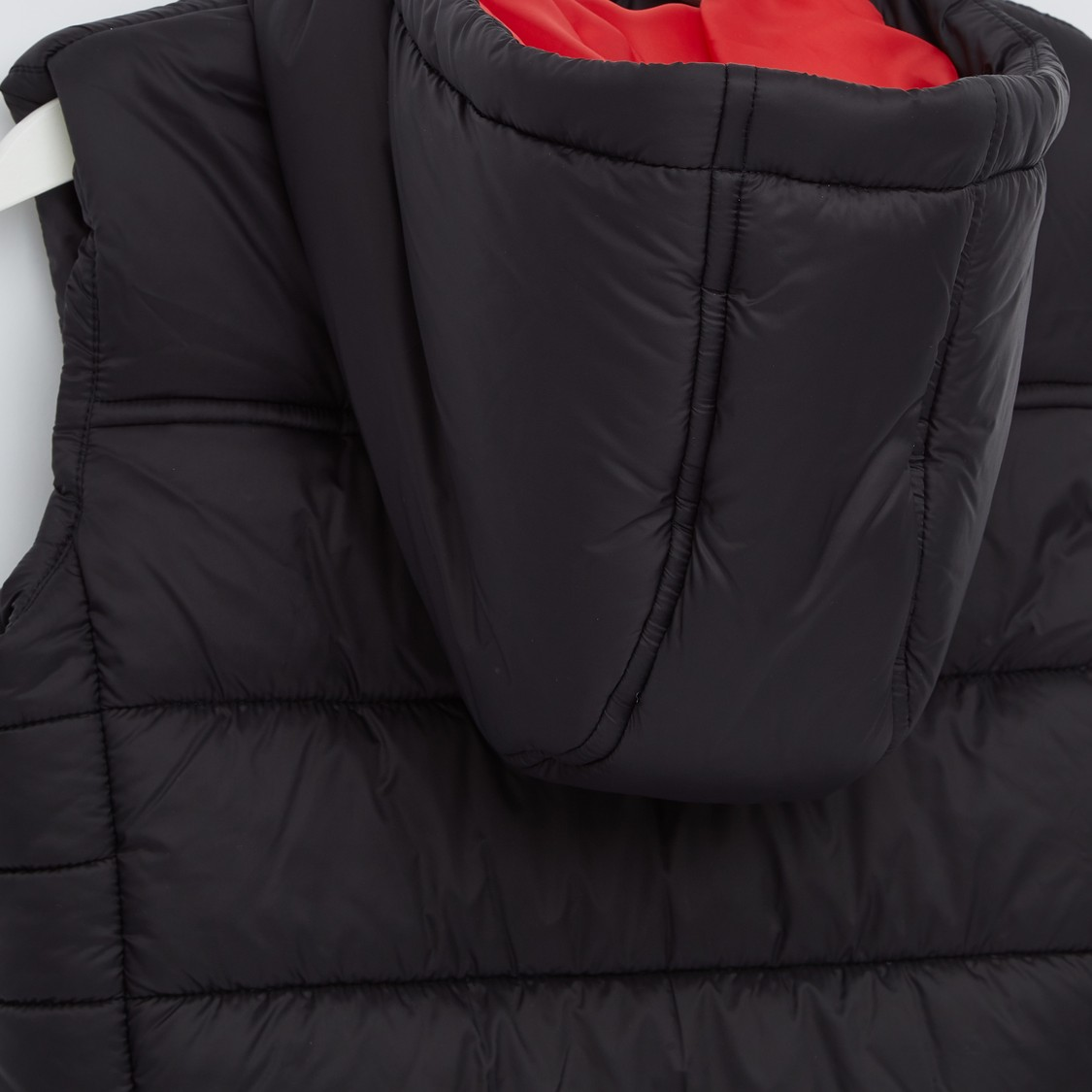 Quilted Sleeveless Gilet with Mickey Mouse Applique and Zip Closure