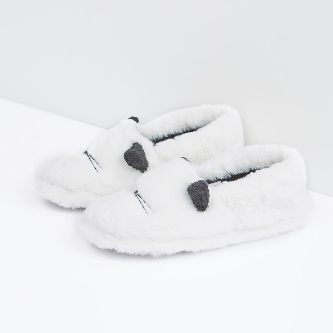 Plush Bedroom Slip-On Shoes