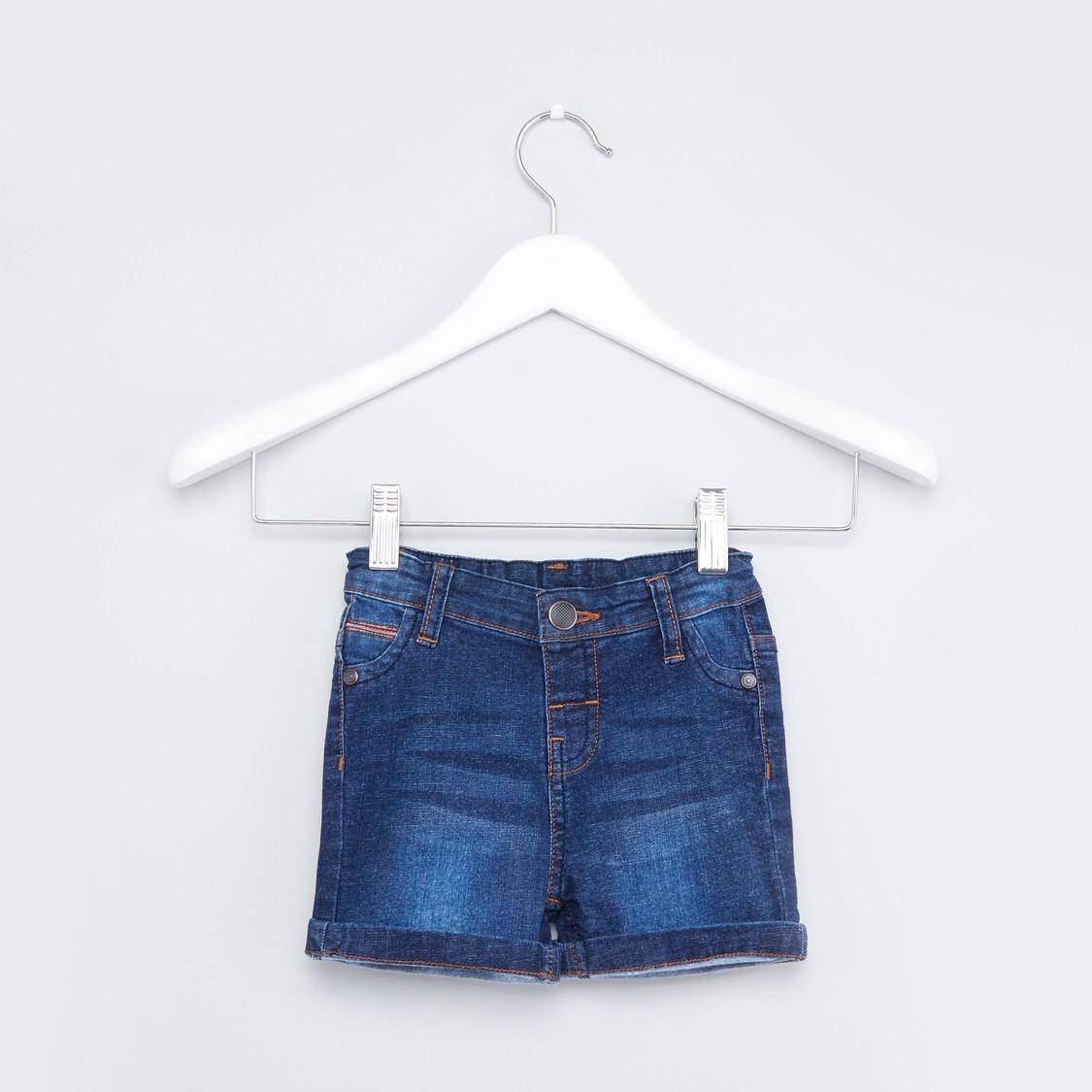 Denim Shorts with Pocket Detail