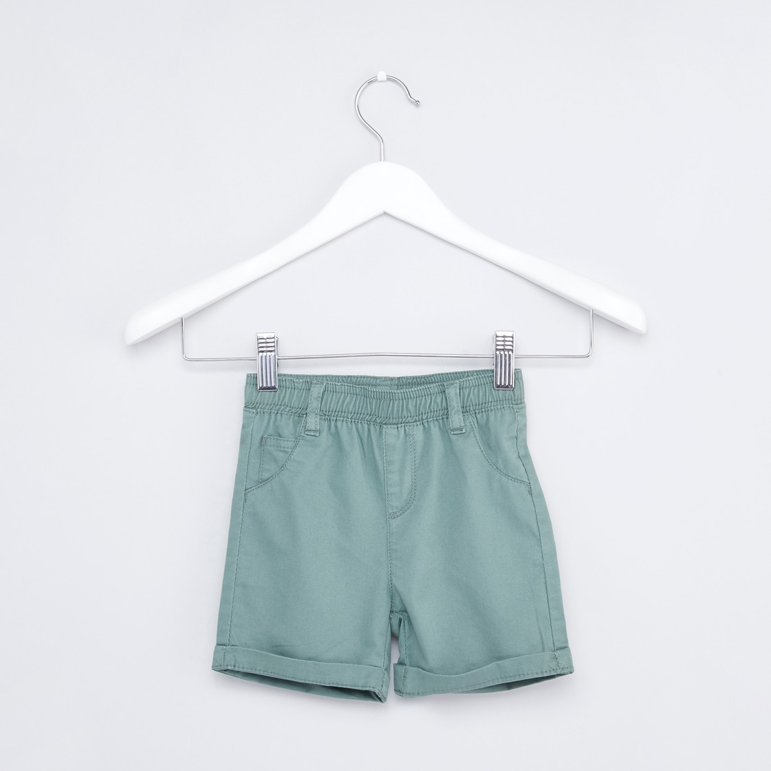 Shorts with Pocket Detailing and Elasticated Closure