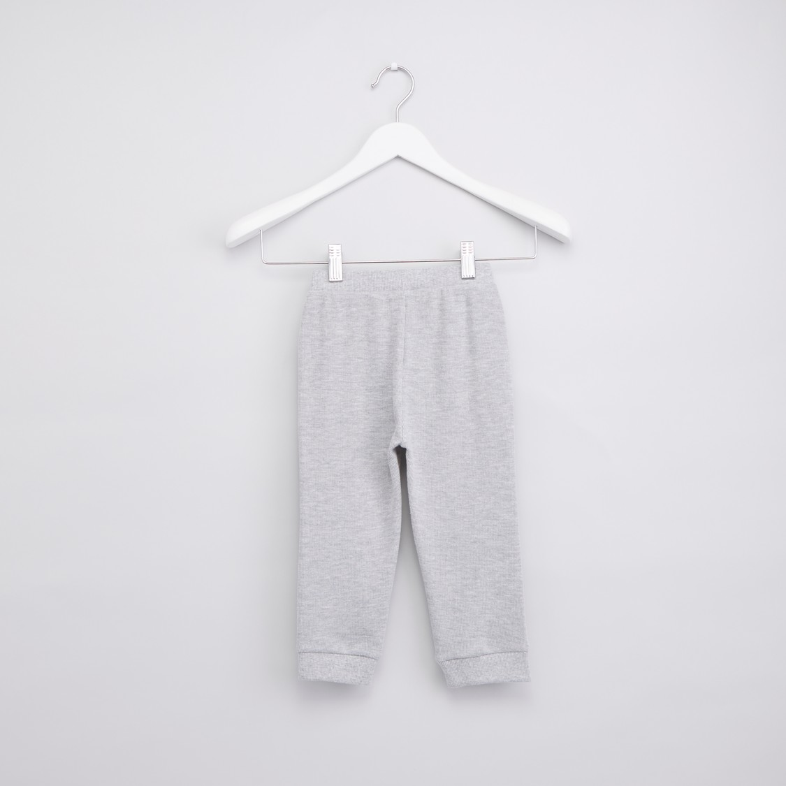 Textured Jog Pants with Drawstring and Elasticised Waistband