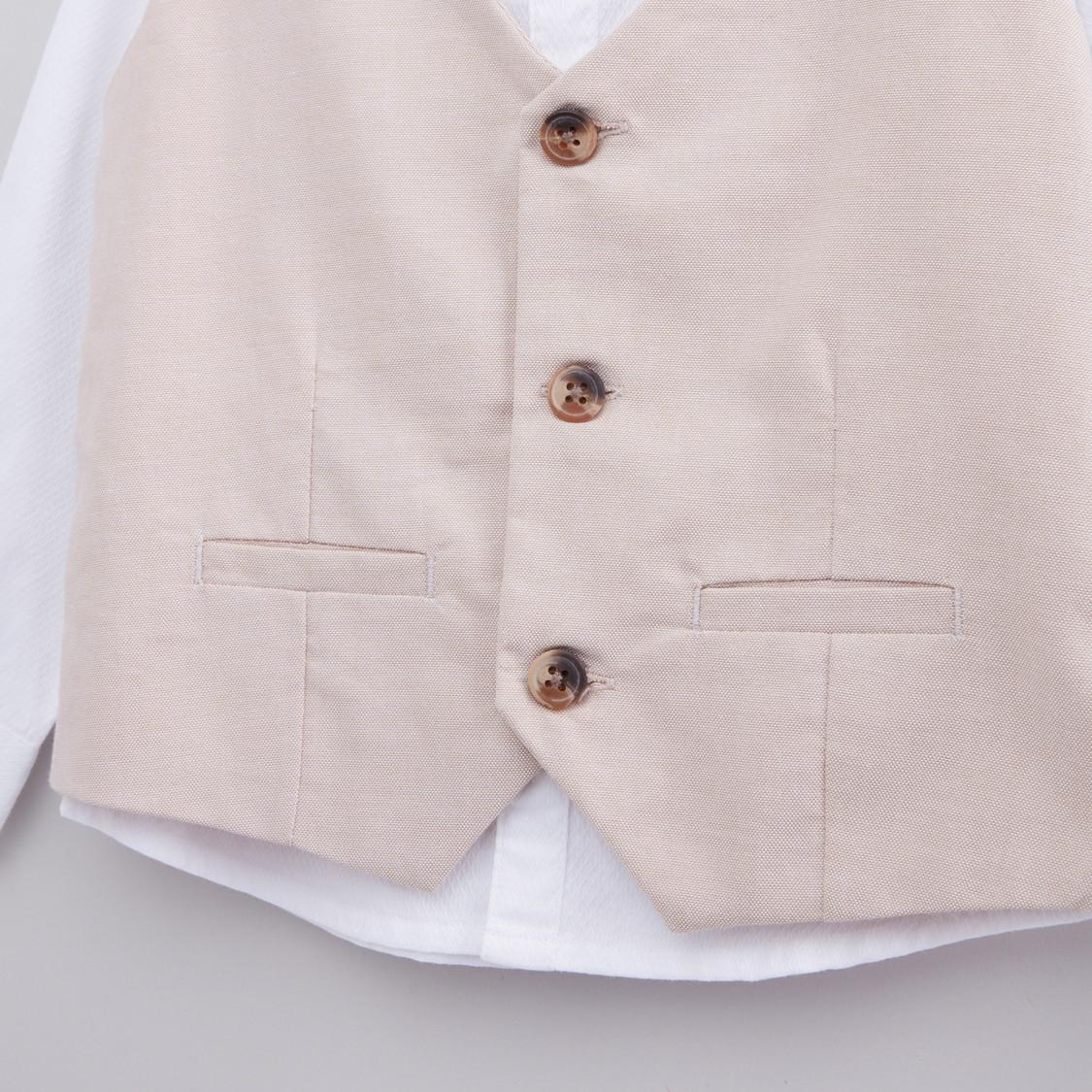طقم ملابس 4 قطع بارزة الملمس