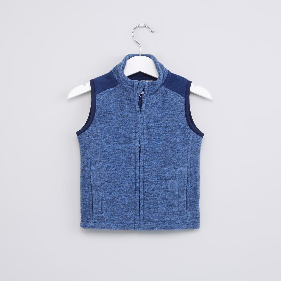 Textured Sleeveless Jacket