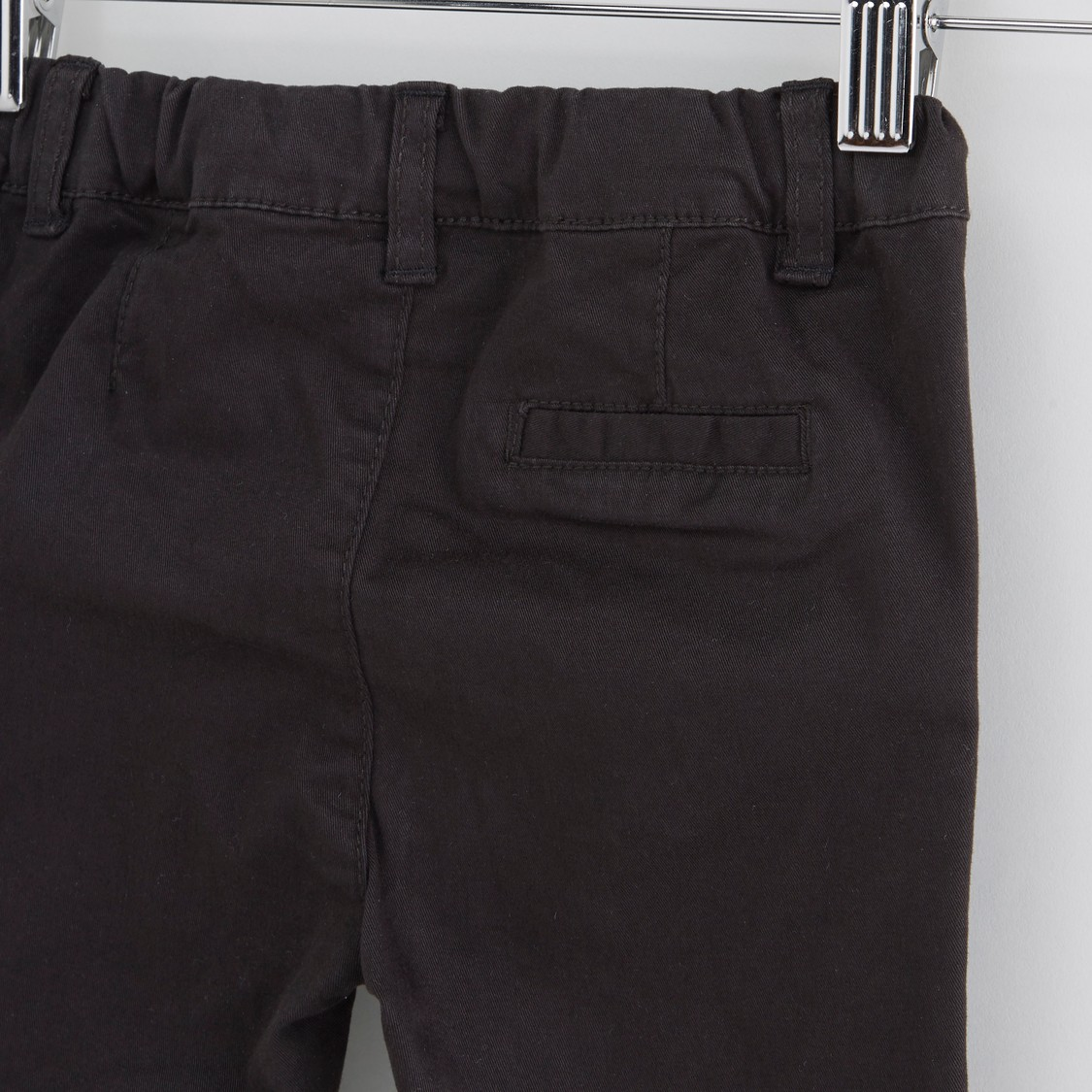 Solid Chinos with Pocket Detail
