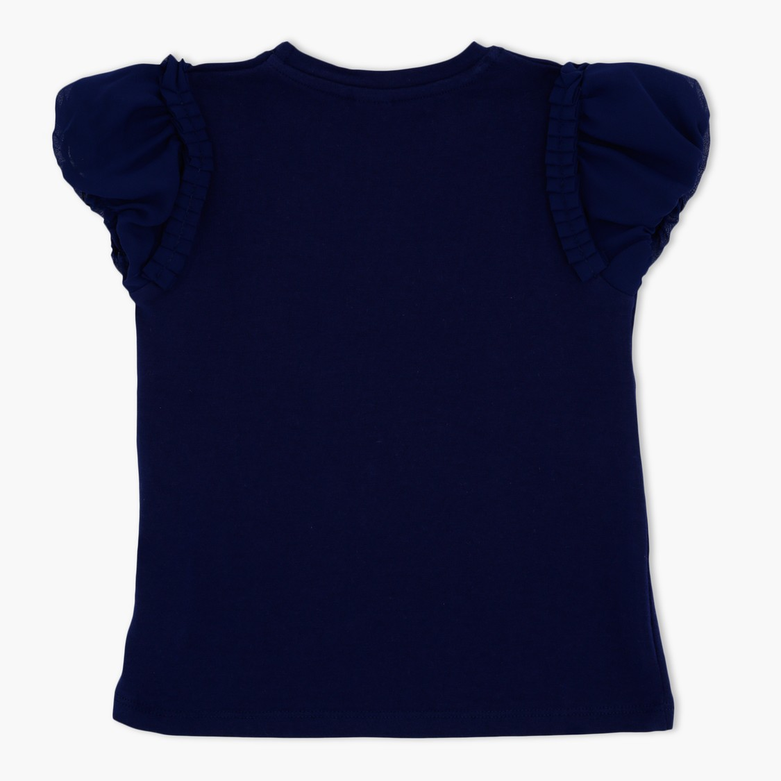 Embroidered Short Sleeves Round Neck T-Shirt