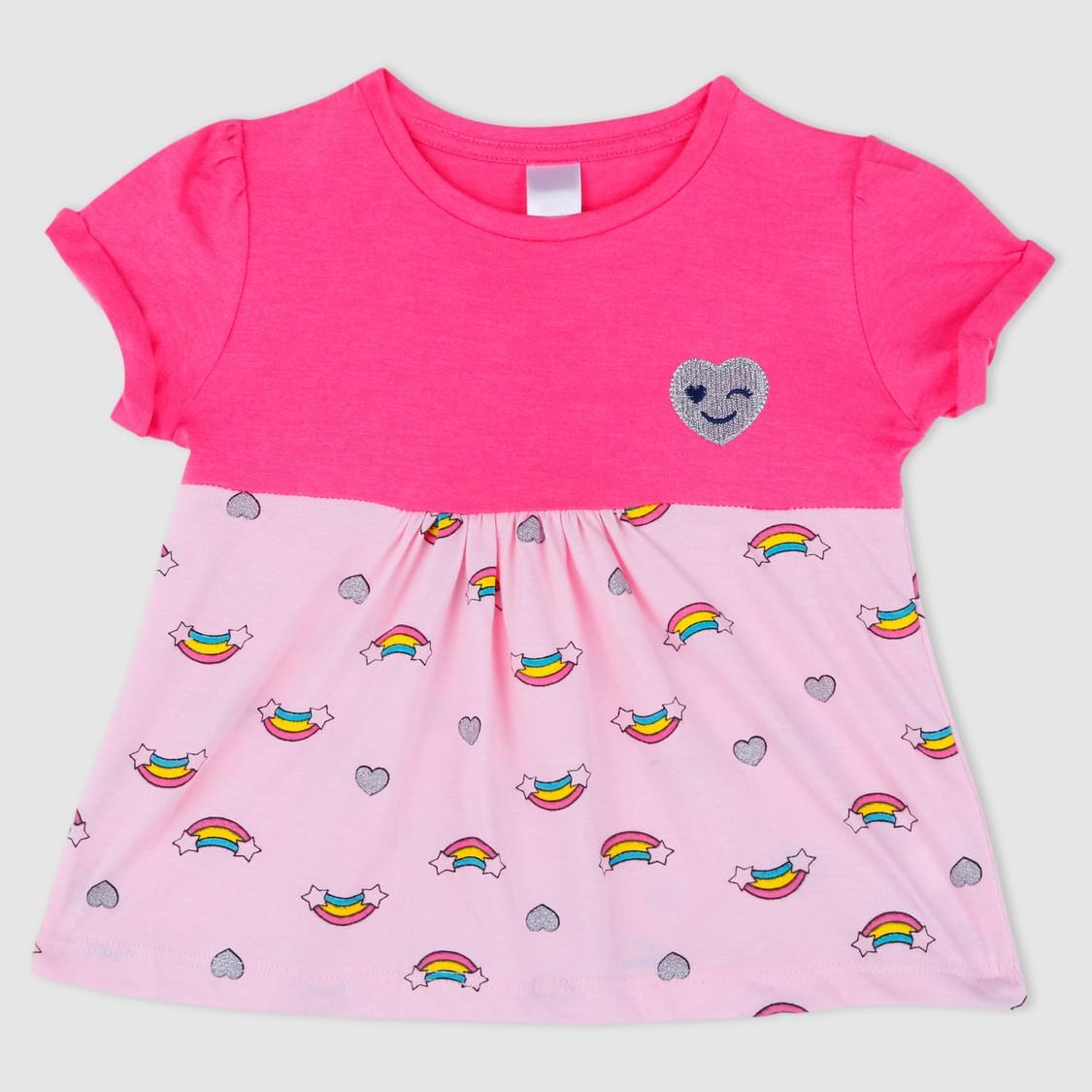 Rainbow Print Short Sleeves T-Shirt