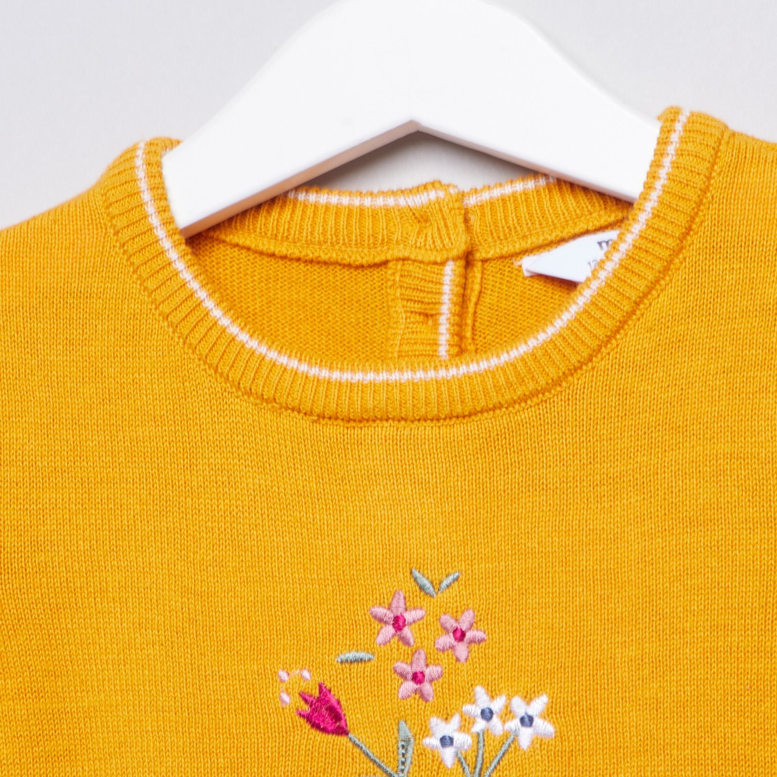 Textured Sleepsuit with Round Neck and Long Sleeves