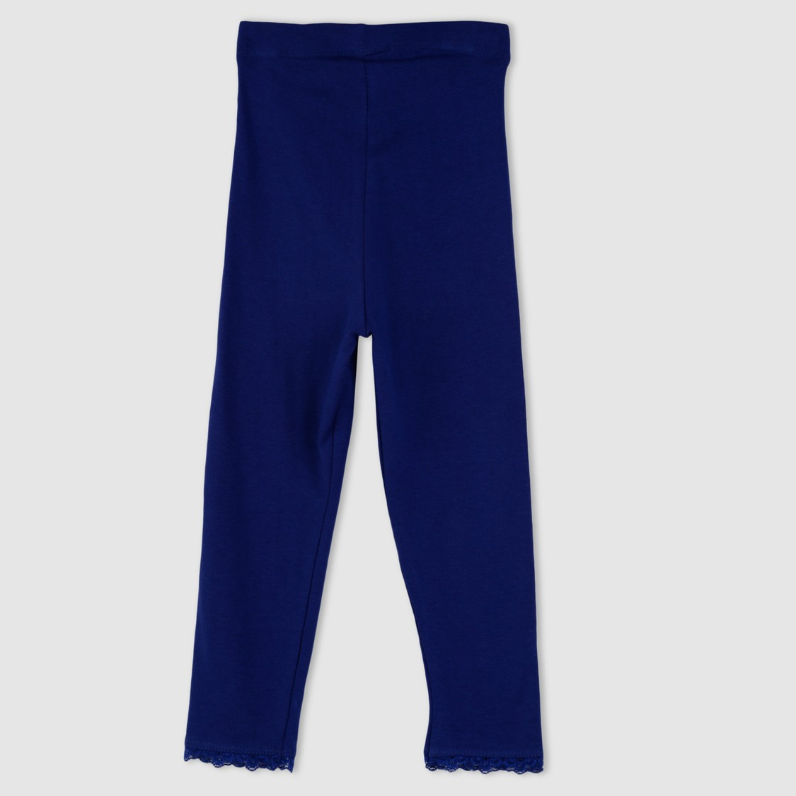 Full Length Leggings with Lace Trims