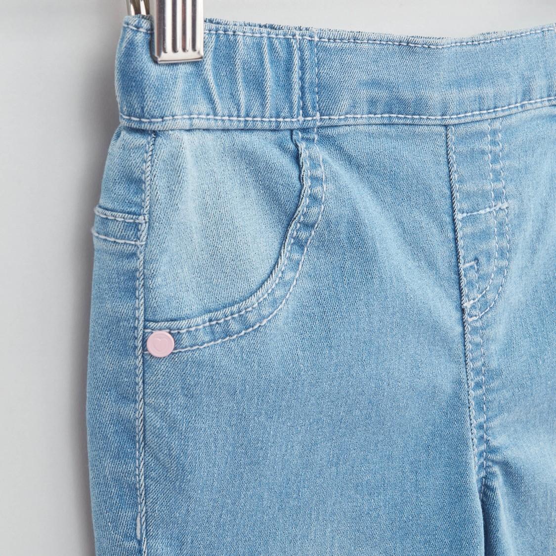 بنطلون جينز بخصر مطّاطي