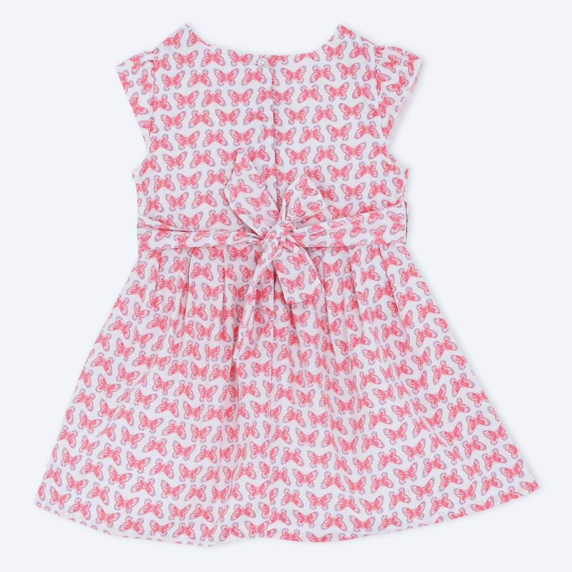 Printed Short Sleeves Woven Dress