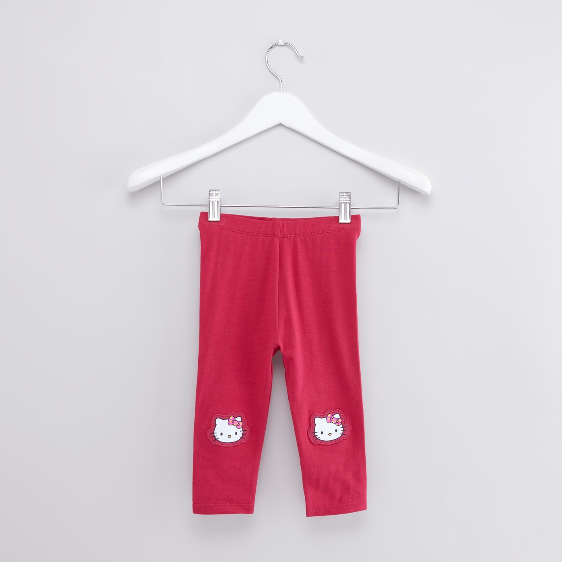 Hello Kitty Printed T-shirt with Applique Detail Leggings