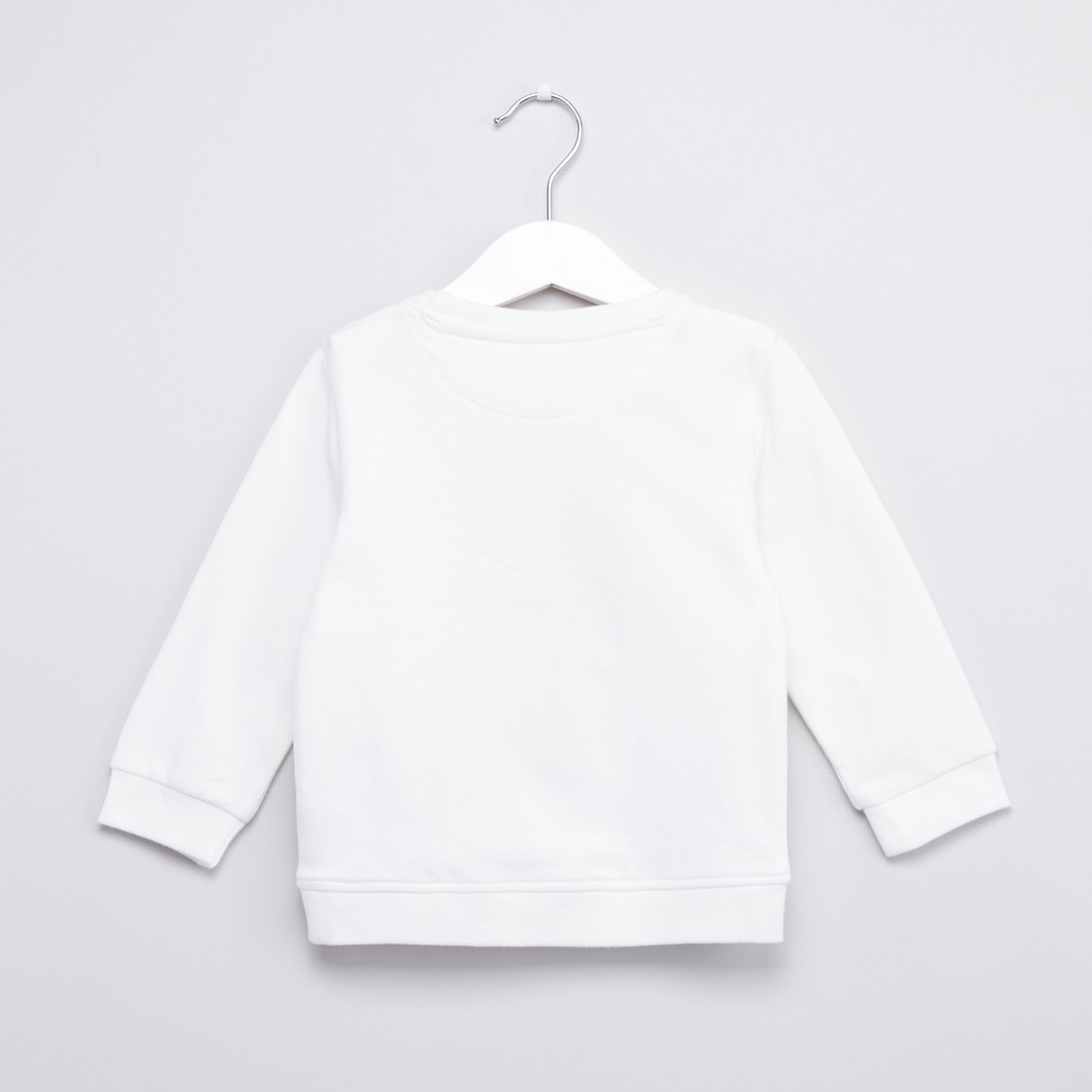 Embroidered Sweatshirt with Round Neck and Long Sleeves