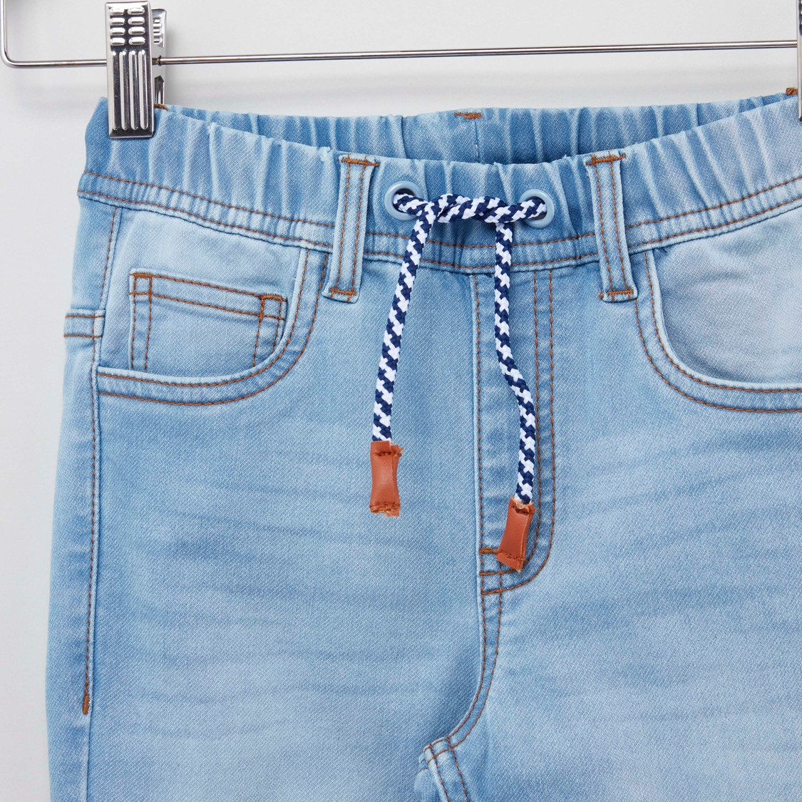 Plain Jegging with Elasticised Waistband and Pocket Detail