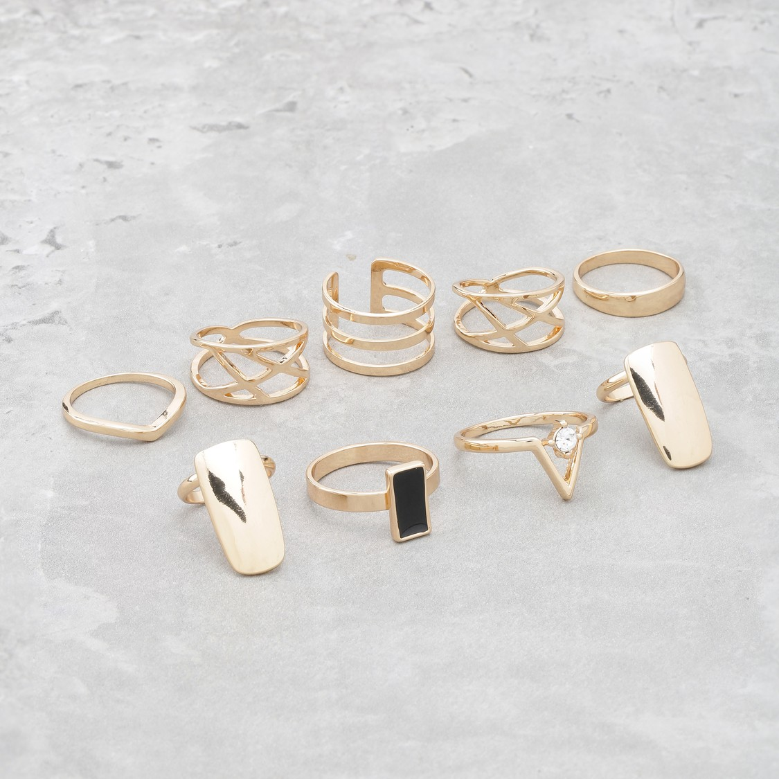 Assorted Finger Ring Set