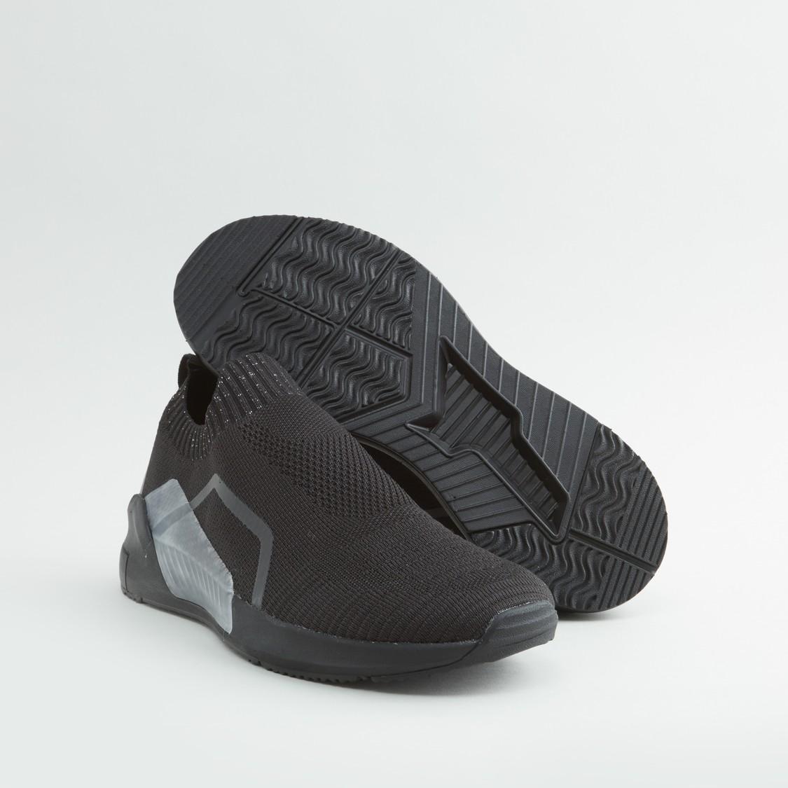 Textured Slip-On Sneakers
