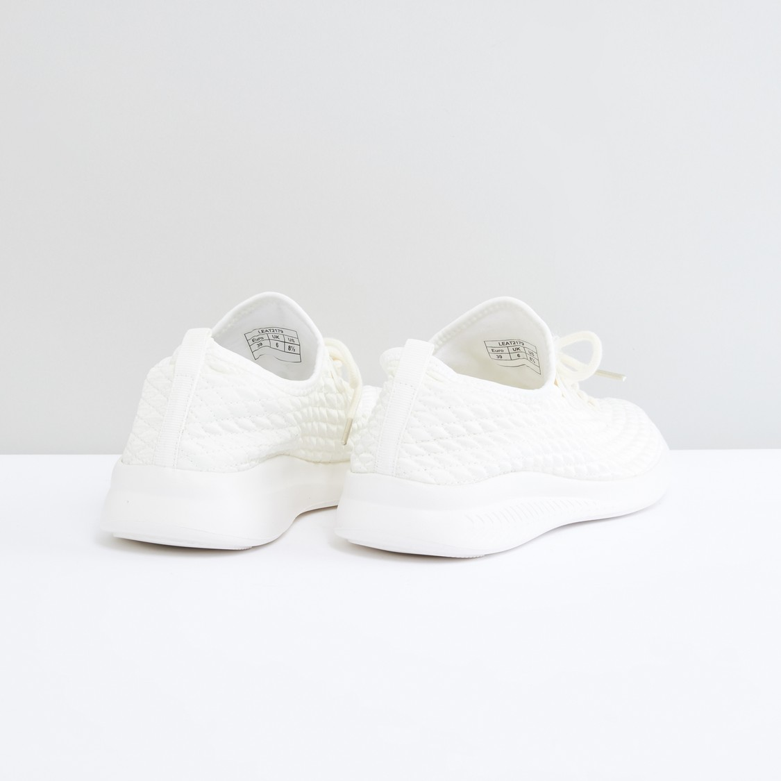 Textured Sports Shoes with Lace Detail
