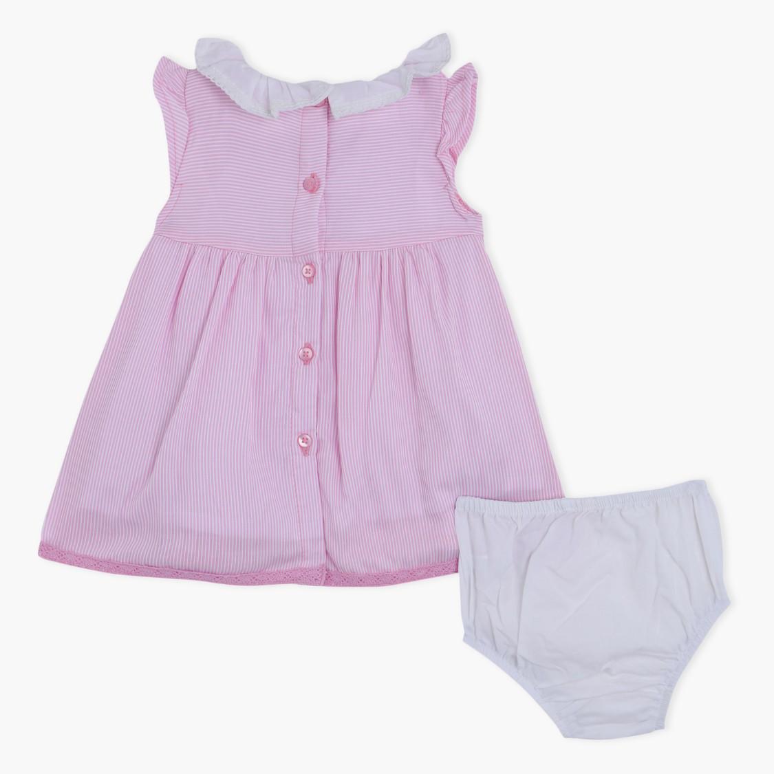 Printed Dress and Bloomer Set