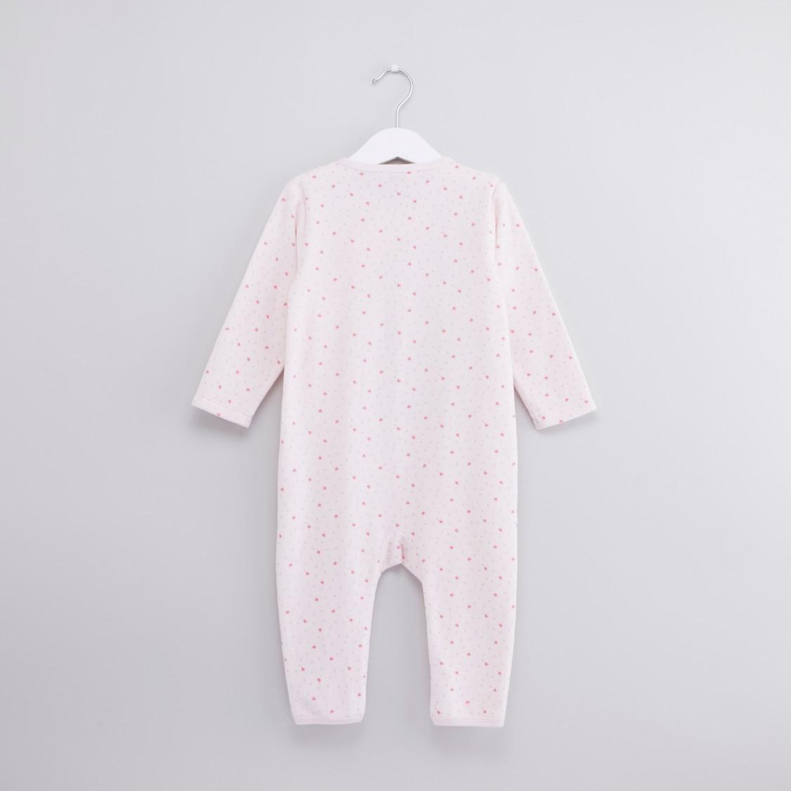 Printed Long Sleeves Sleepsuit with Cap
