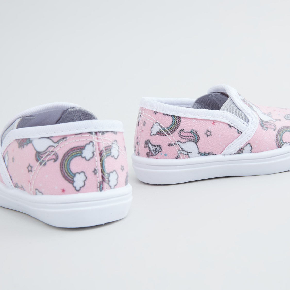 Unicorn Printed Slip-On Shoes