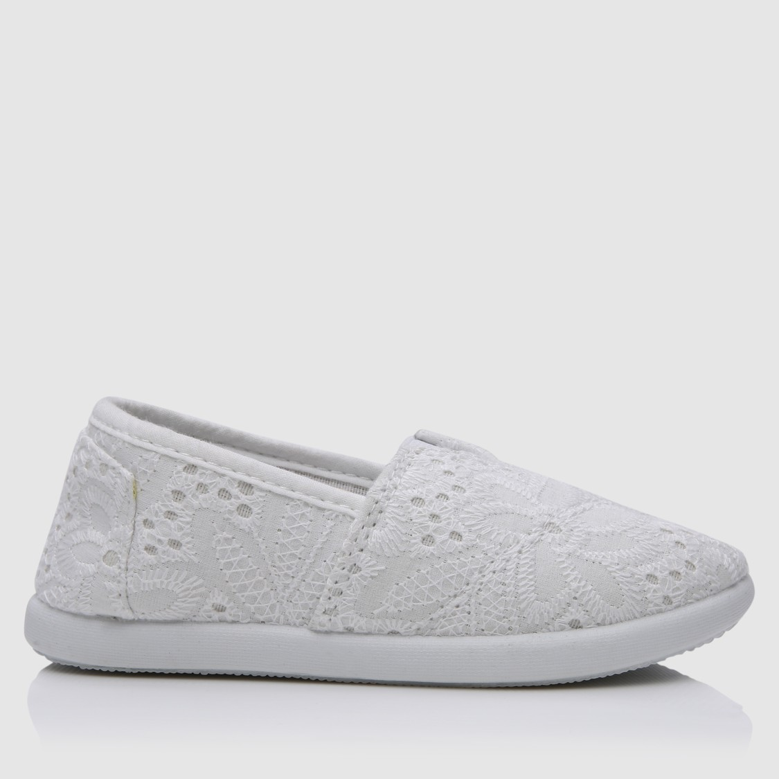 Lace Detail Slip-On Shoes