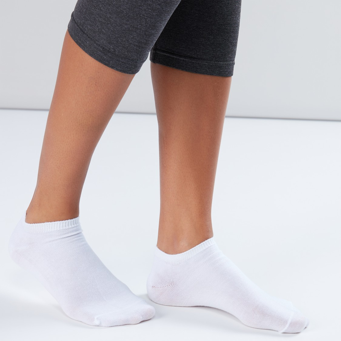 Textured Ankle Length Socks - Set of 10