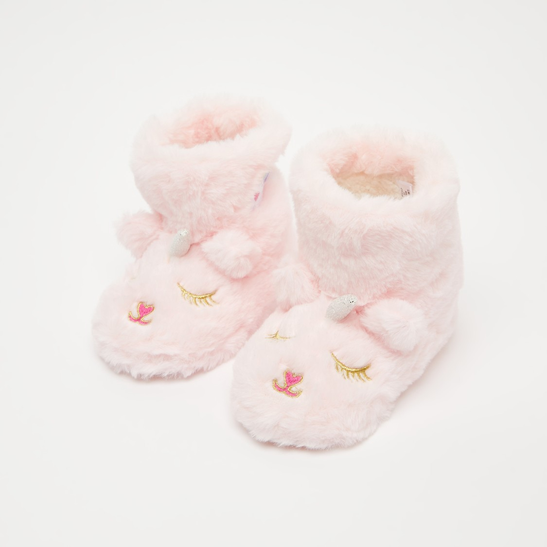 Embroidered Plush Detail Boots