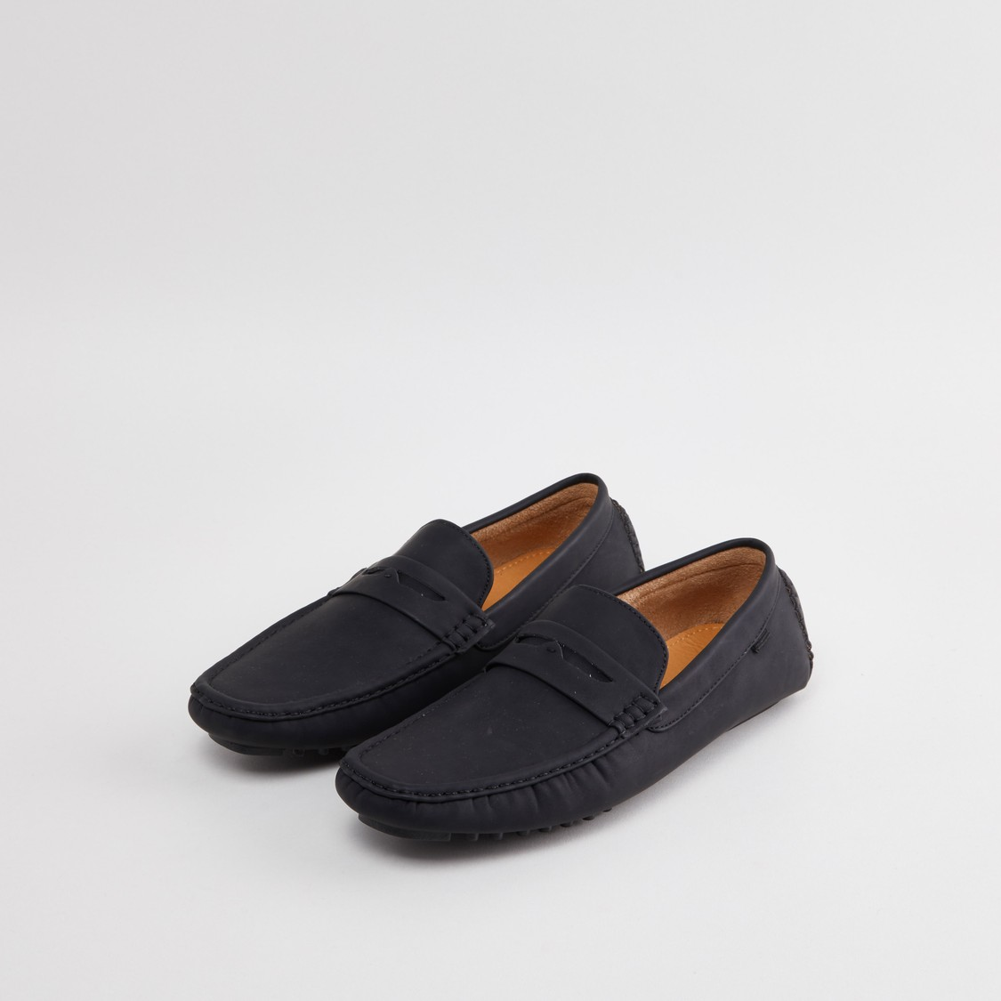 Plain Loafers with Stitch Detail