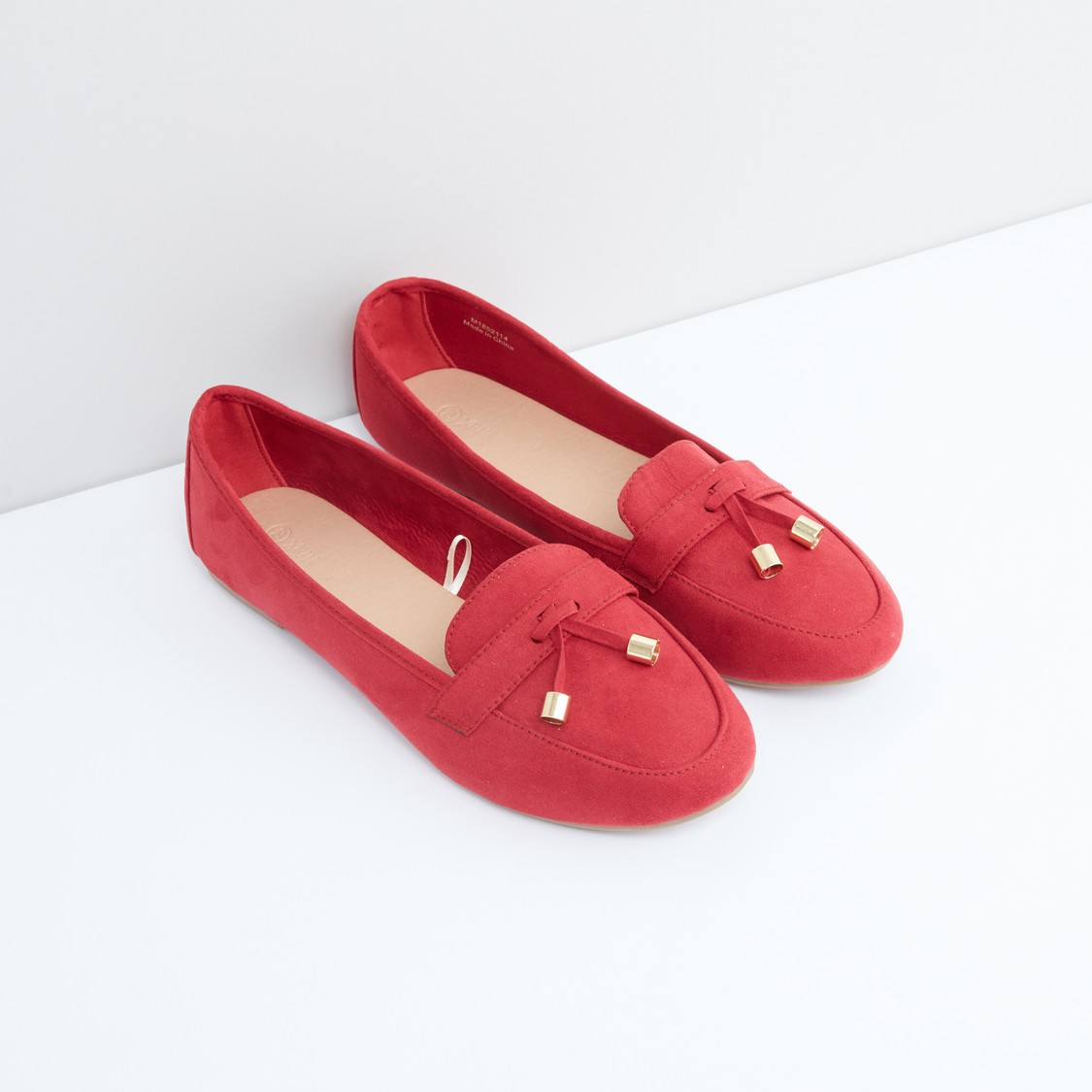 Slip-On Shoes with Metallic Detail