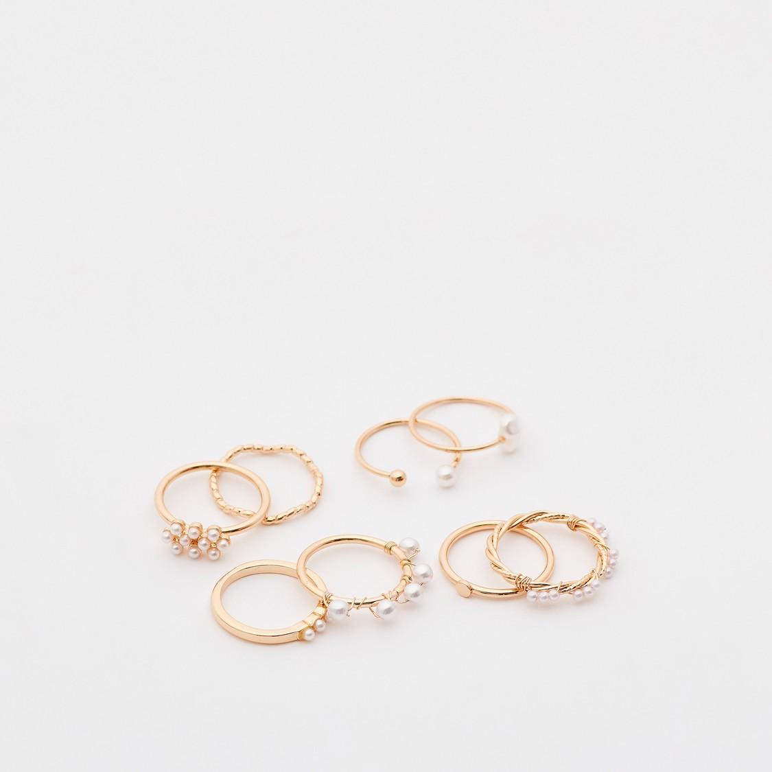 Set of 8 - Assorted Finger Rings