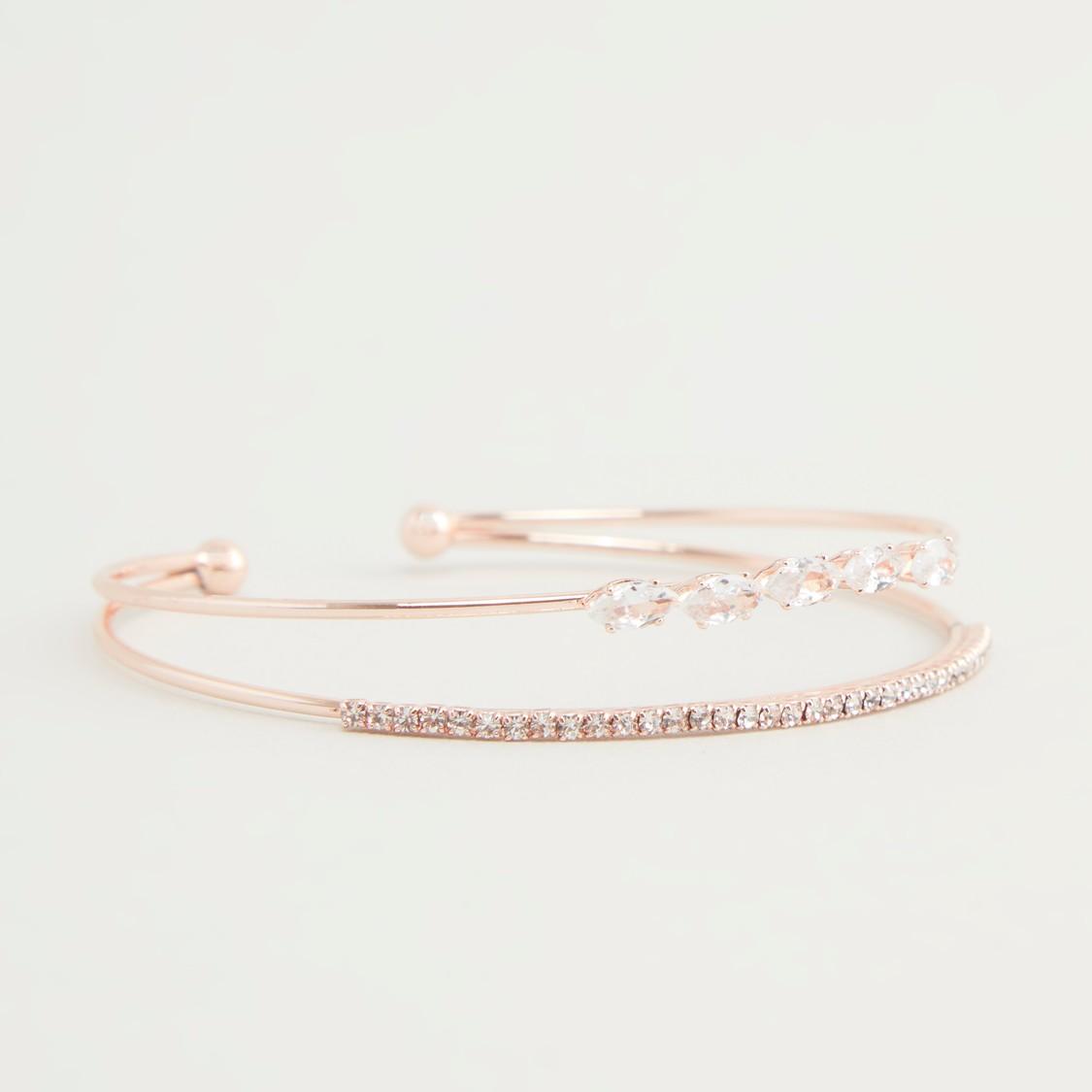 Studded Adjustable Cuff Bracelet