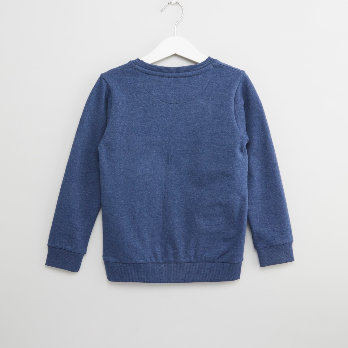 Mansoor Printed Sweatshirt with Round Neck and Long Sleeves