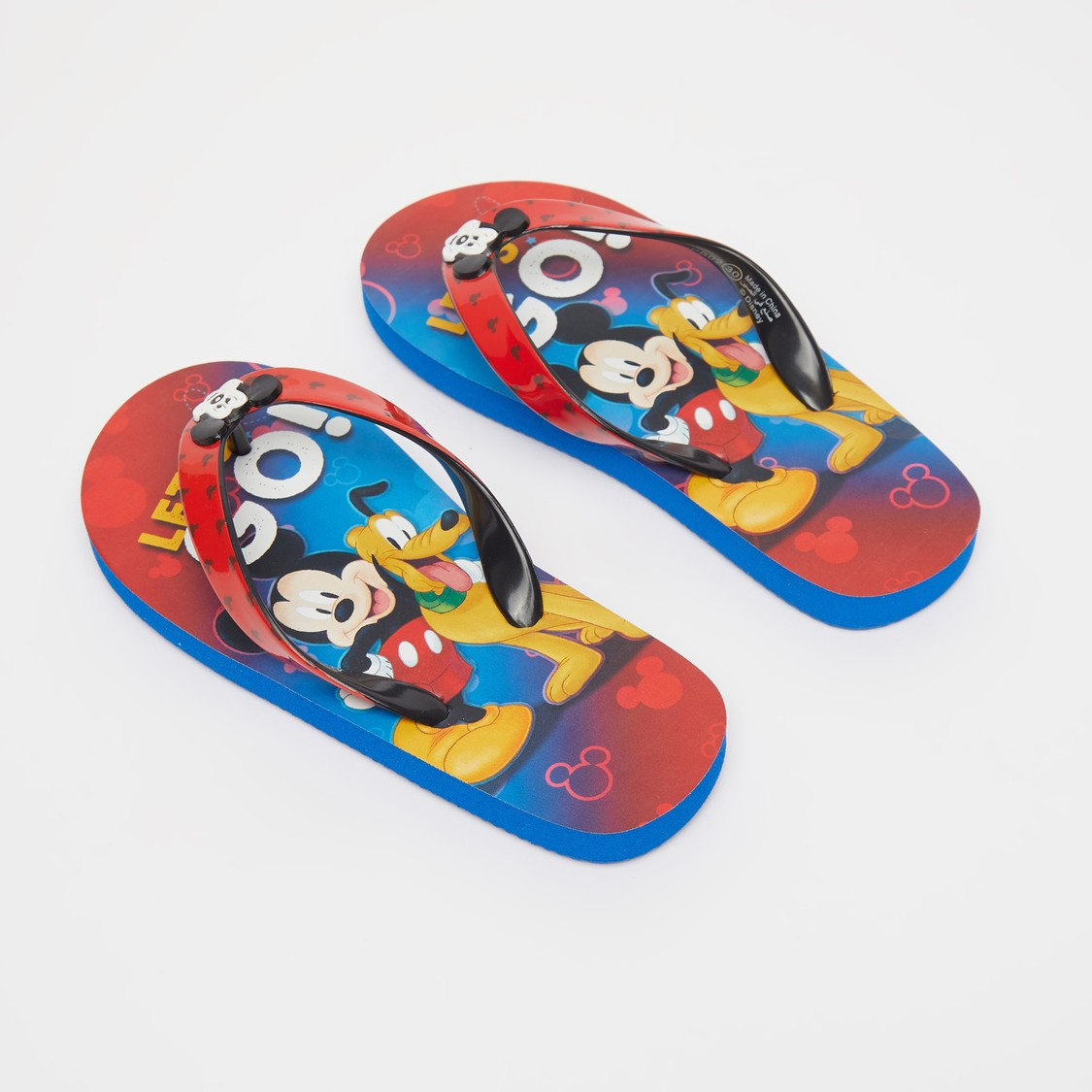 Mickey Mouse Print Thong Style Slippers