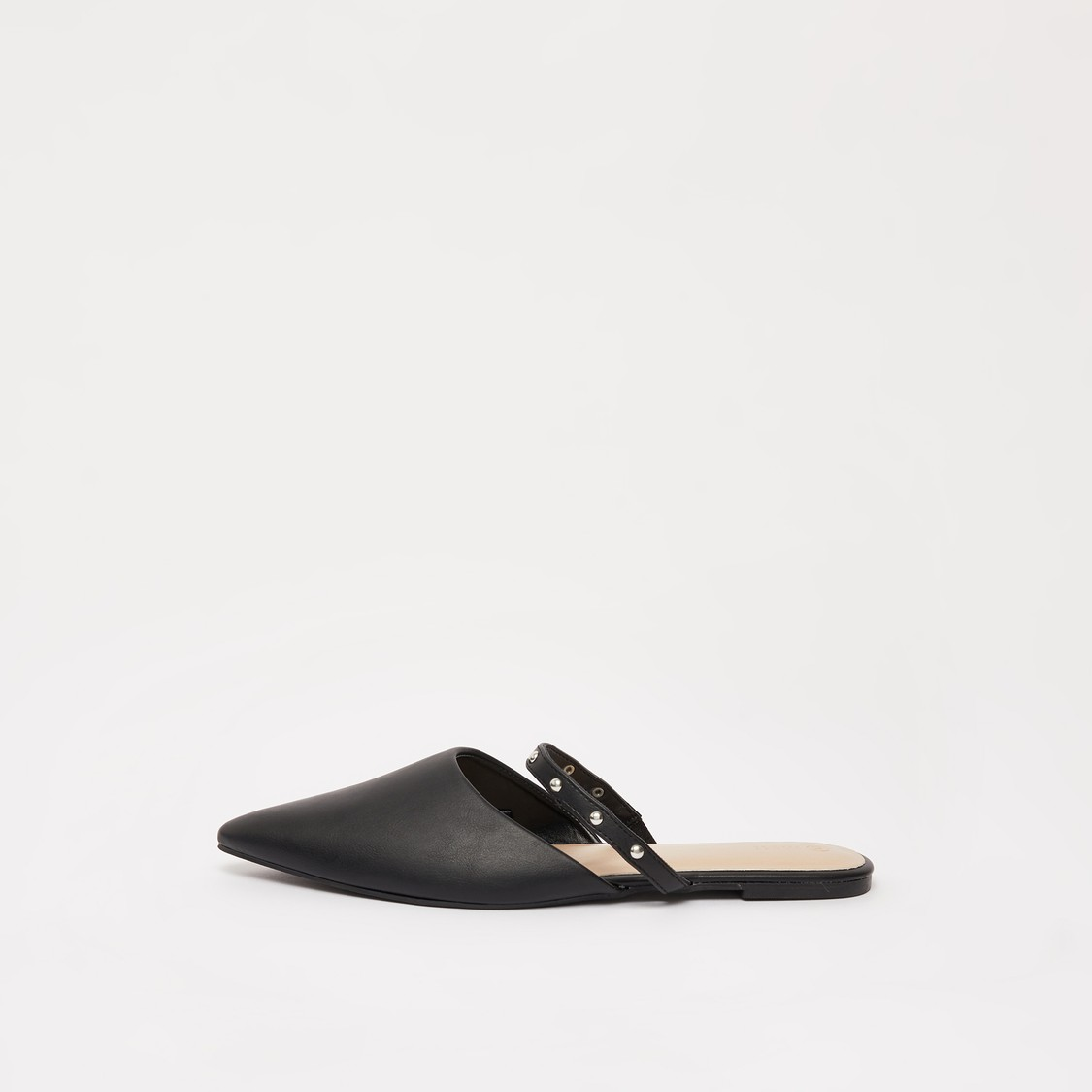 Embellished Slip-On Shoes with Pointed Toe Detail