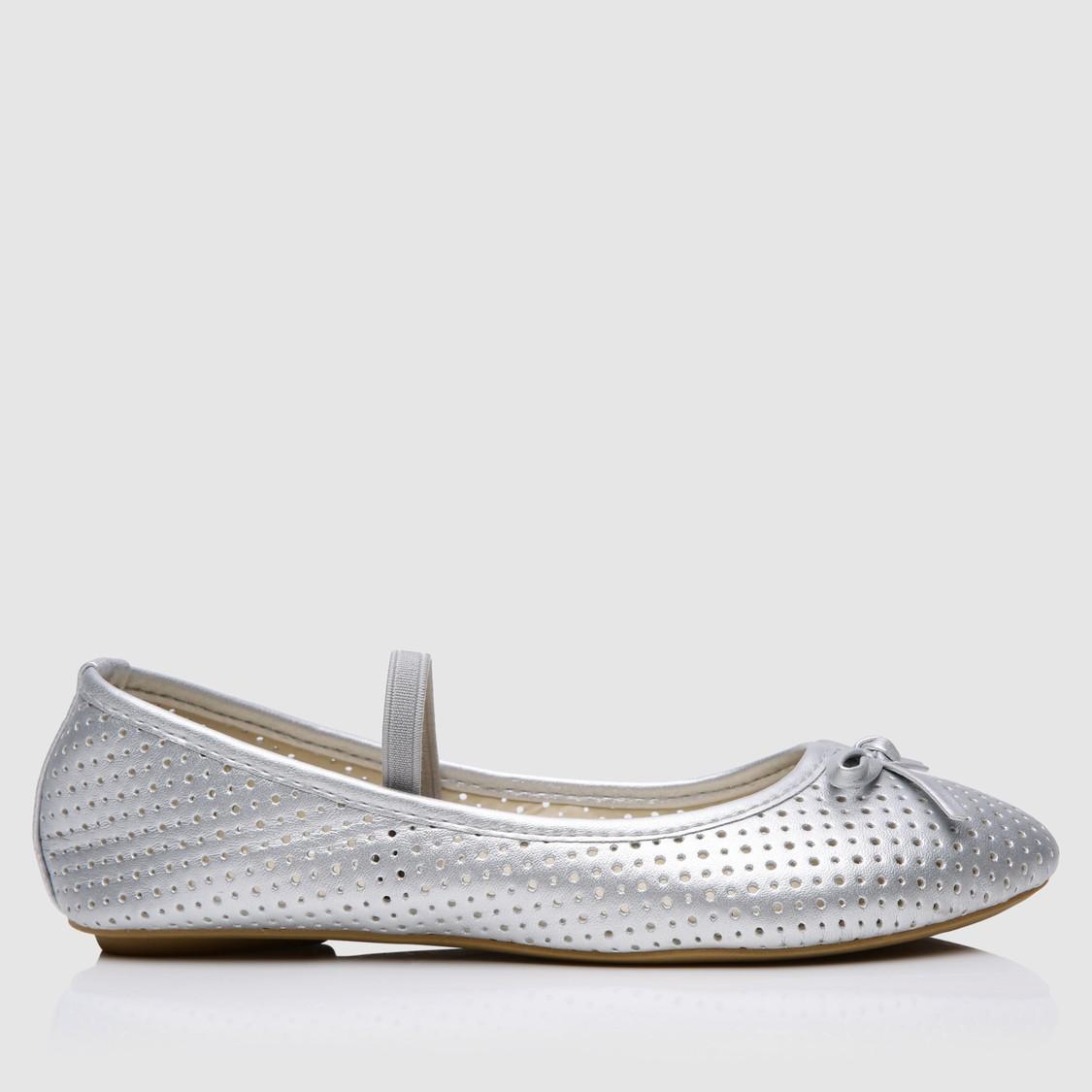 Laser Cut Detail Slip-On Shoes