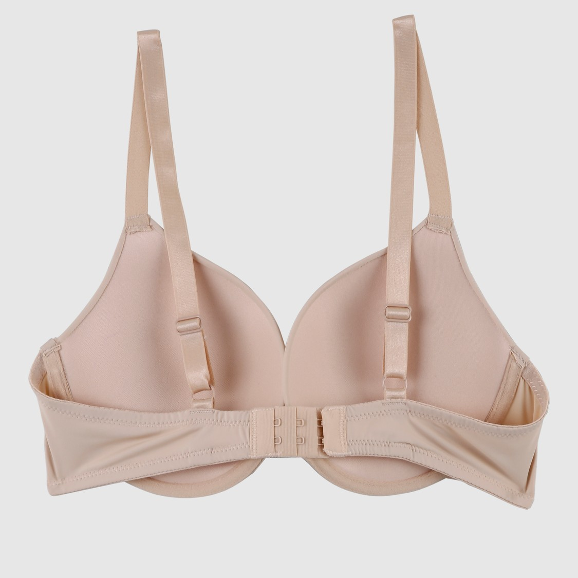 Padded Plunge Bra with Hook and Eye Closure
