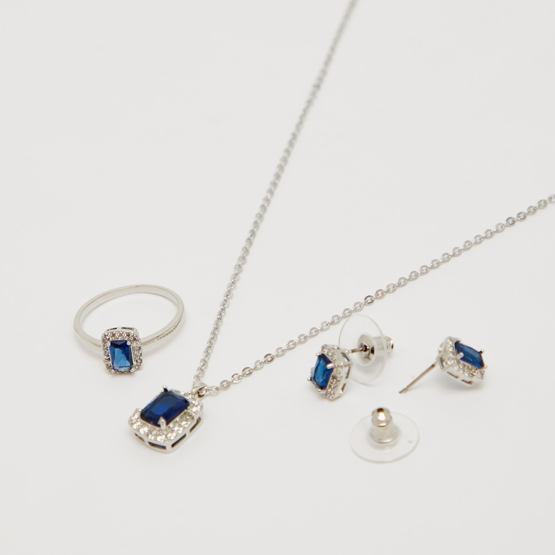 Embellished Pendant Necklace and Earring Set