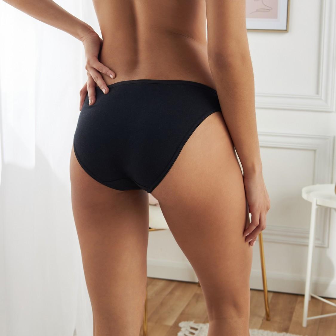 Set of 5 - Bikini Briefs with Elasticised Waistband