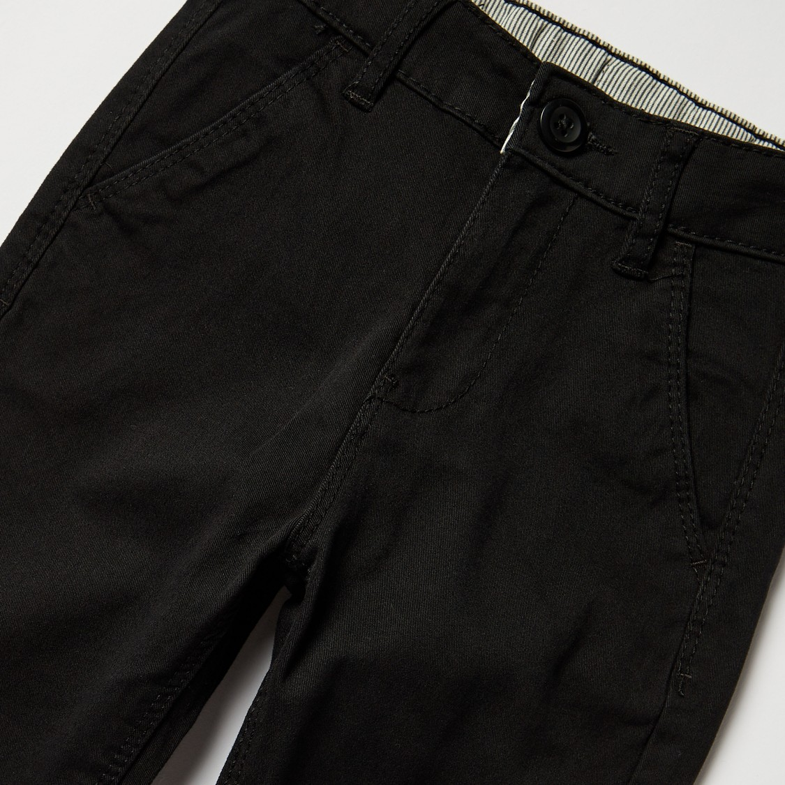 Solid Full Length Chinos with Pockets