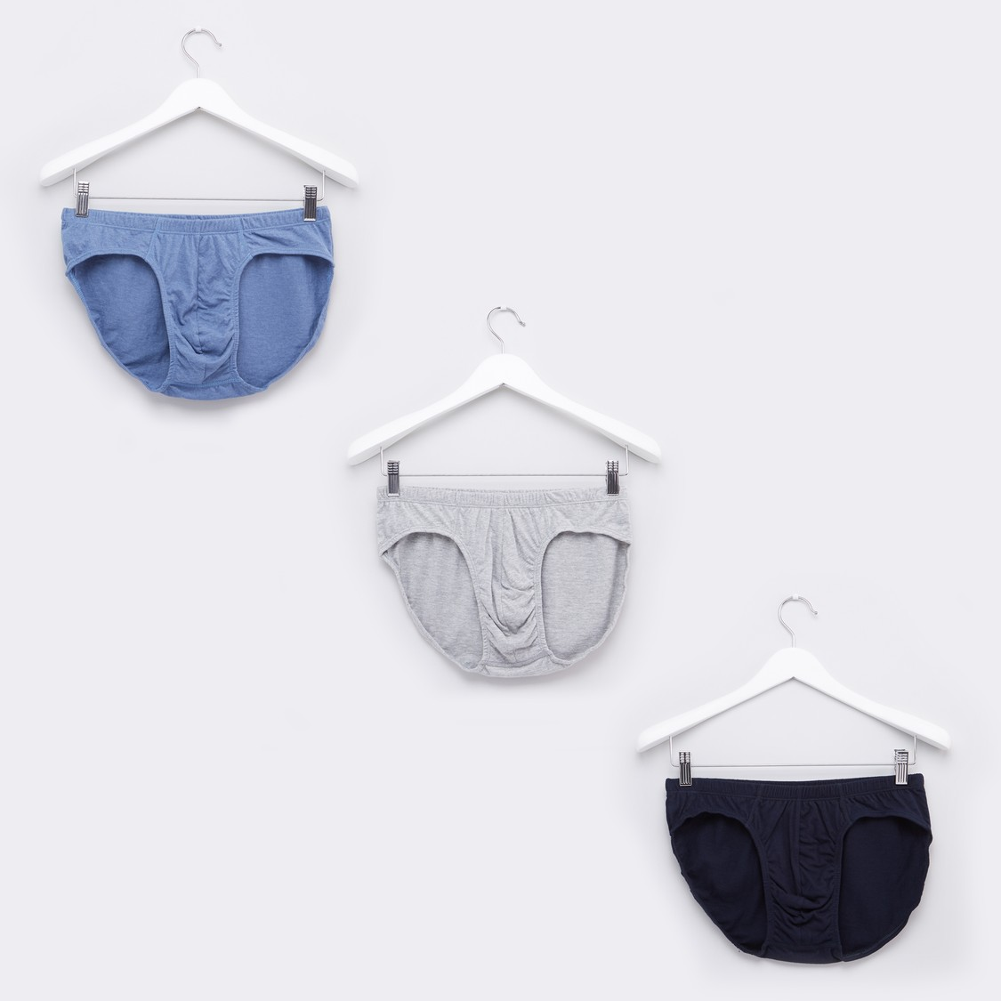 Assorted Briefs with Elasticised Waistband - Set of 3