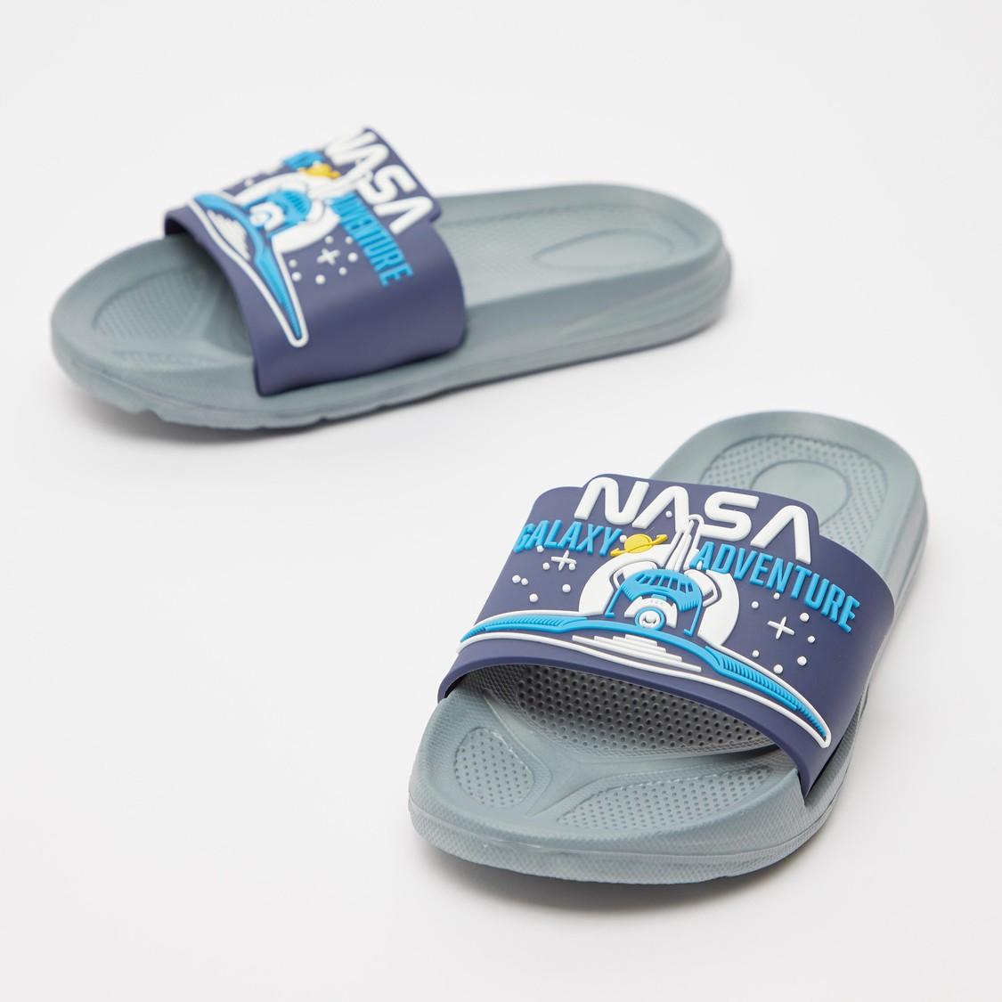 Embossed Slide Slippers