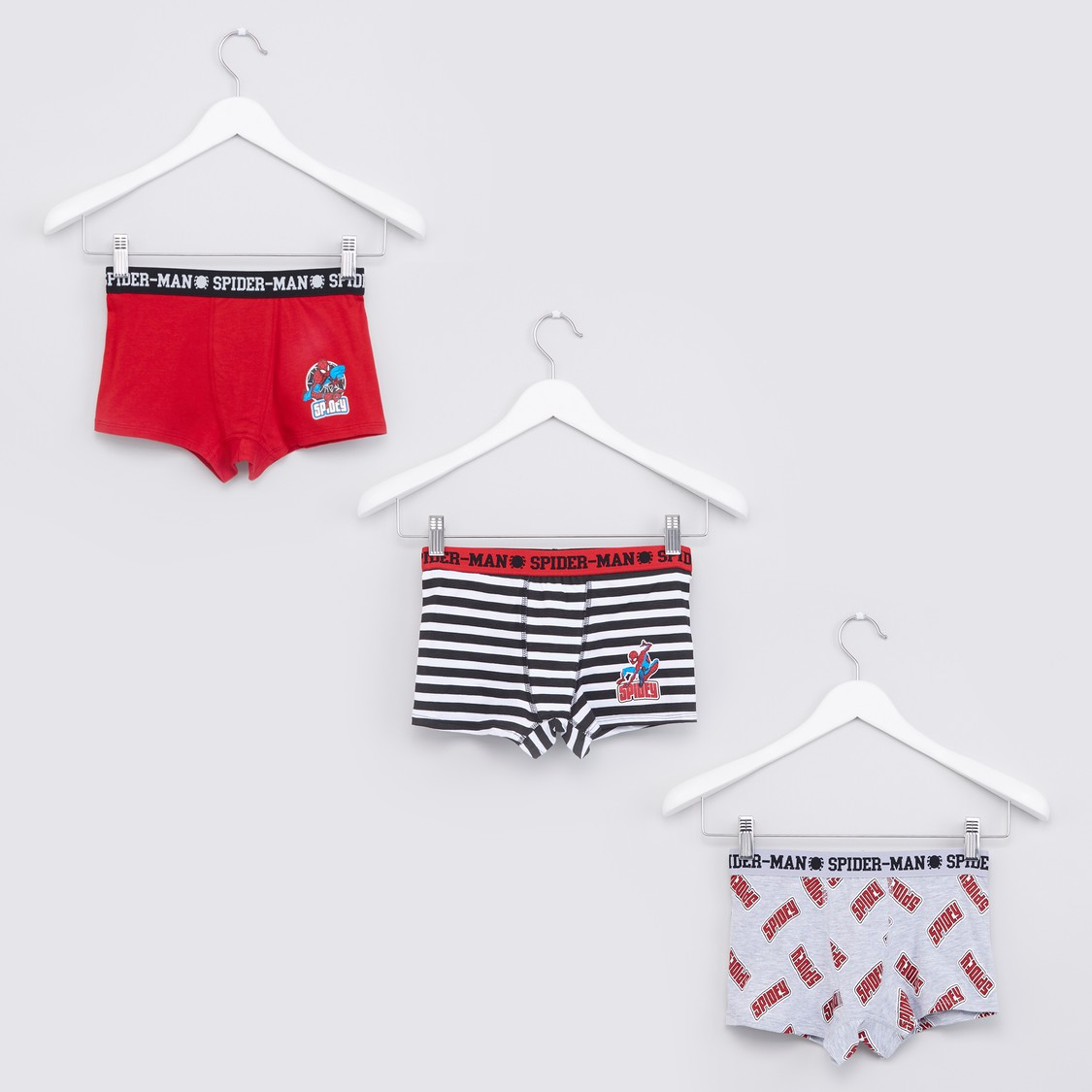Spider-Man Assorted Briefs with Elasticised Waistband - Set of 3