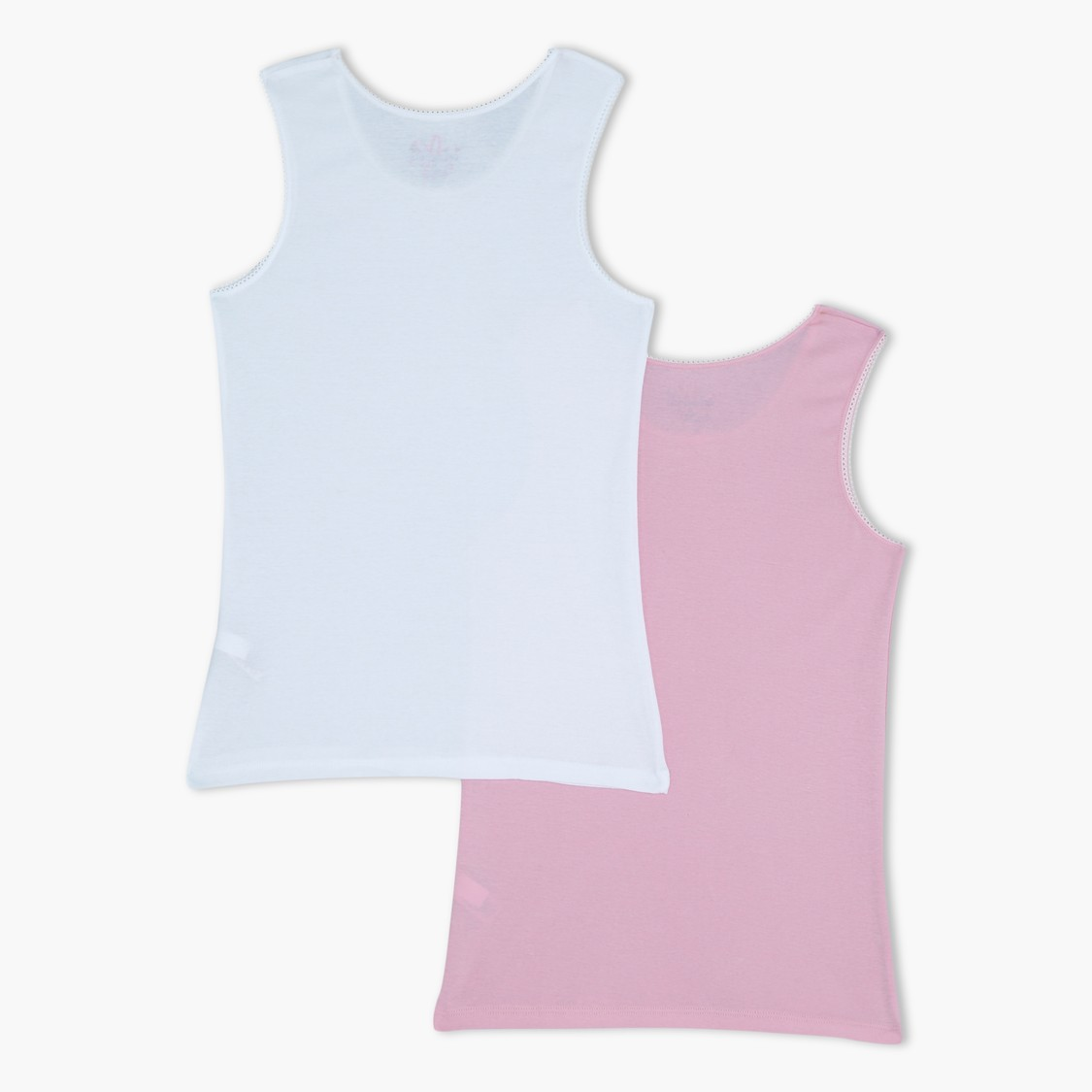 Sleeveless Vest with Bow Applique - Set of 2
