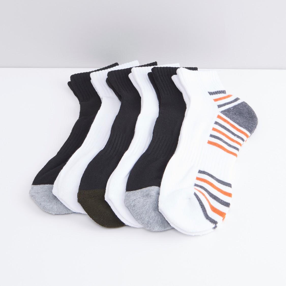 Set of 5 Striped Ankle Length Socks