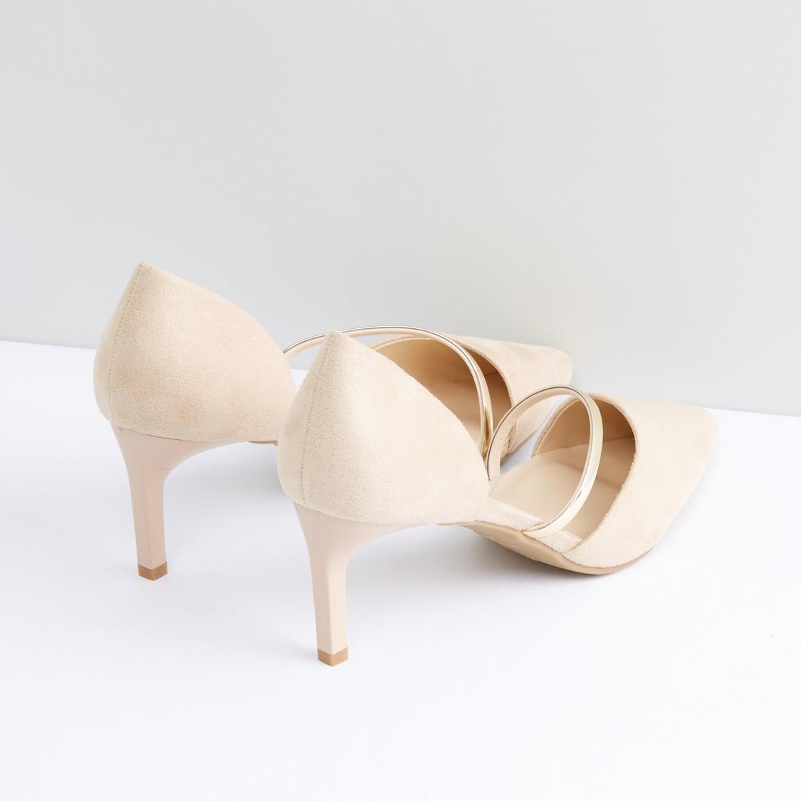 Stiletto Heel Pumps with Strap Detail