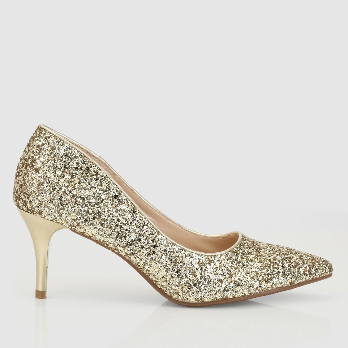 حذاء ستيليتو سهل الارتداء بتزيينات