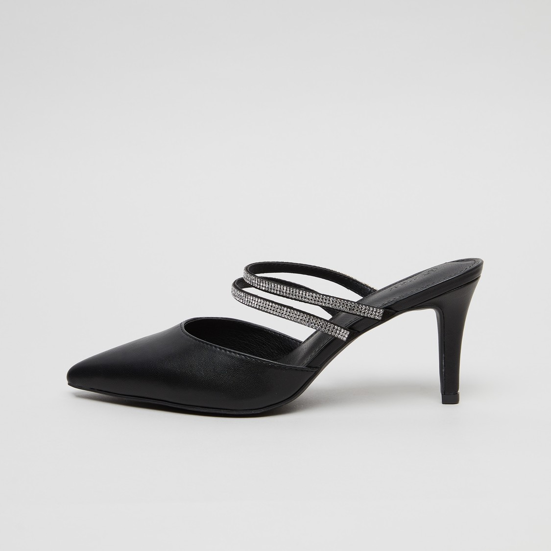 حذاء ميول مزين بأحزمة بكعب ستيليتو