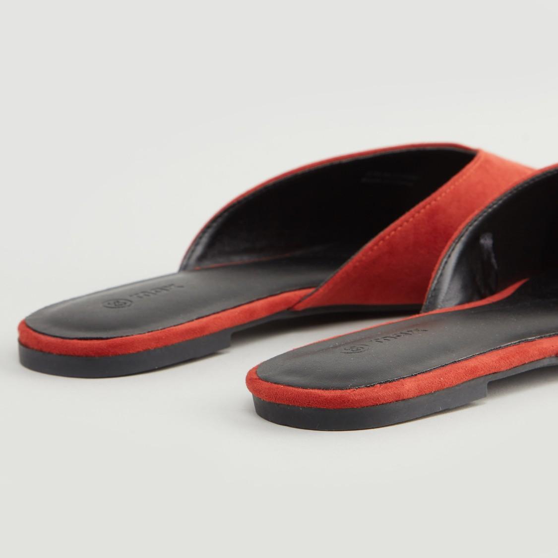 حذاء ميول بارز الملمس بكعب مكدّس