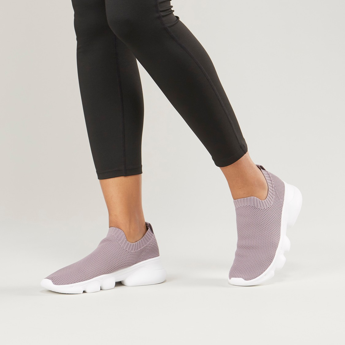 Textured Slip-On Casual Shoes